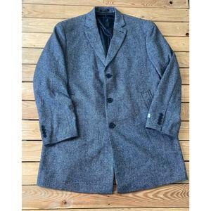 New CALVIN KLEIN Men's 3 Button Wool Pea Coat 46R
